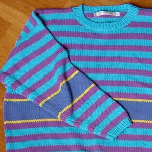ESPRIT SPORT Vintage Retro Crop Sweater - Large